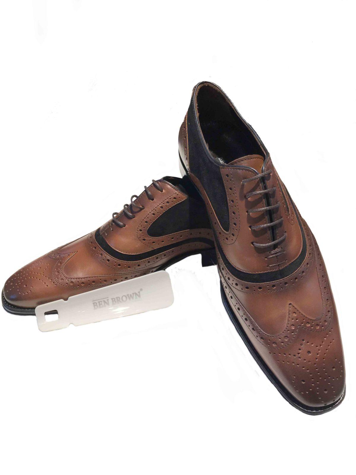 Ben Brown |BB 1168-9 Brown & black shoe